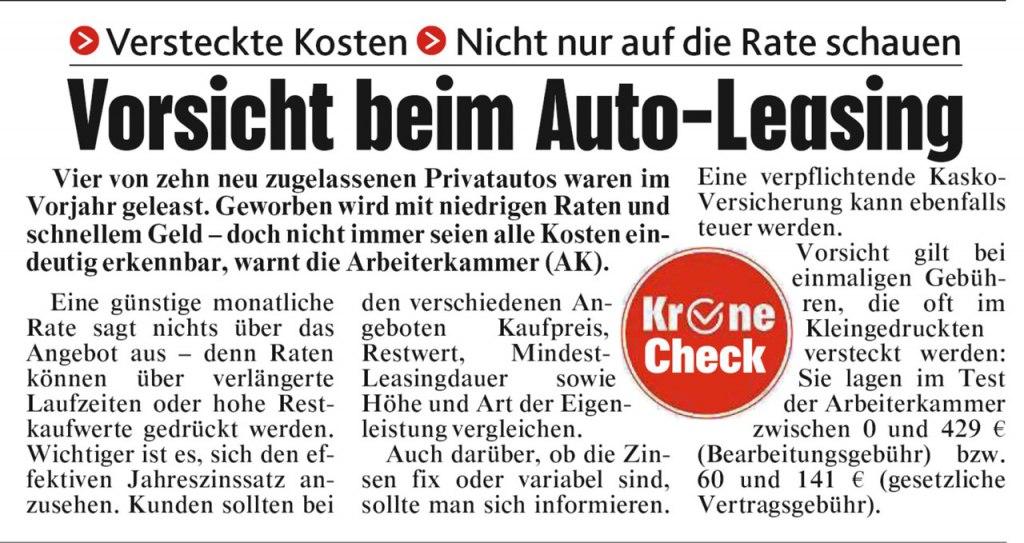 Kronen Zeitung vom 4.7.2019